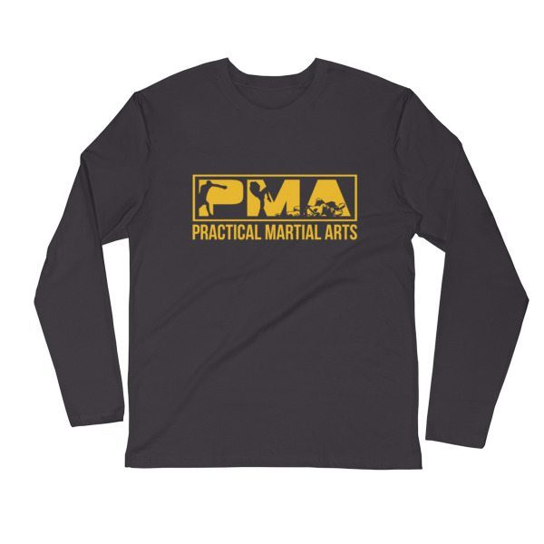 PMA GOLD LOGO Fitted Long Sleeve Crew